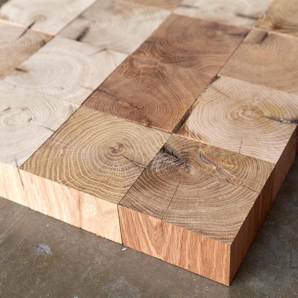 Reclaimed End Grain Oak Parquet Block-139652