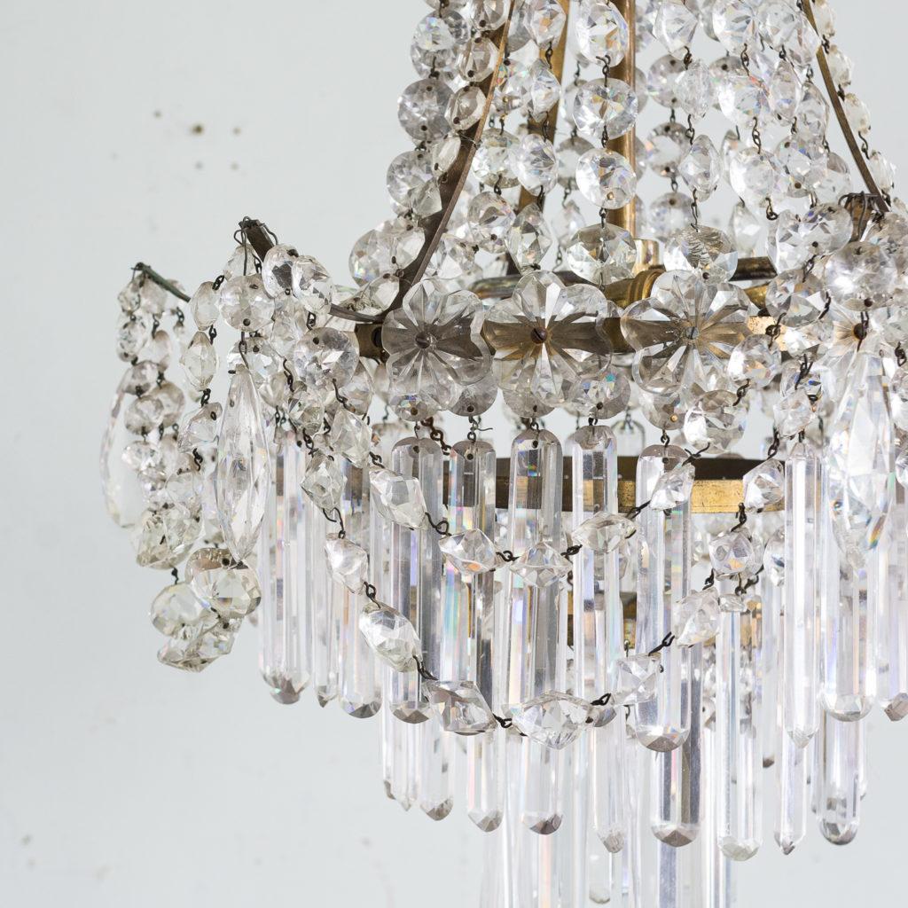 Pair of Regency style glass waterfall chandeliers,-140424