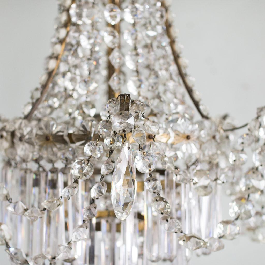 Pair of Regency style glass waterfall chandeliers,-140423