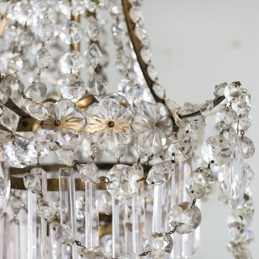 Pair of Regency style glass waterfall chandeliers,-140425