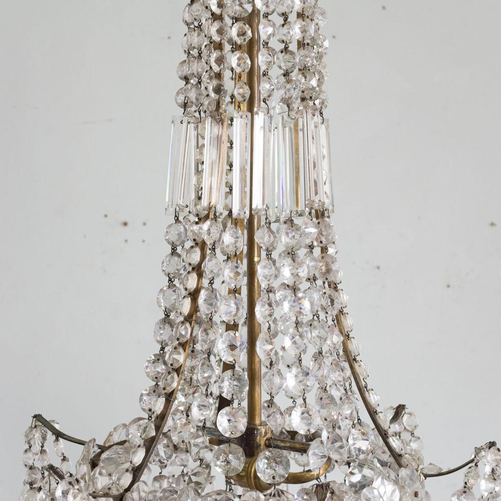 Pair of Regency style glass waterfall chandeliers,-140426