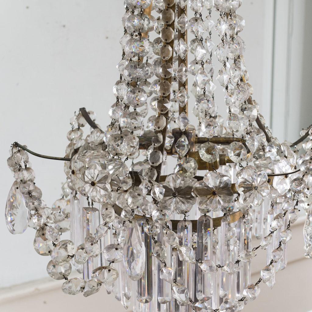 Pair of Regency style glass waterfall chandeliers,-140430