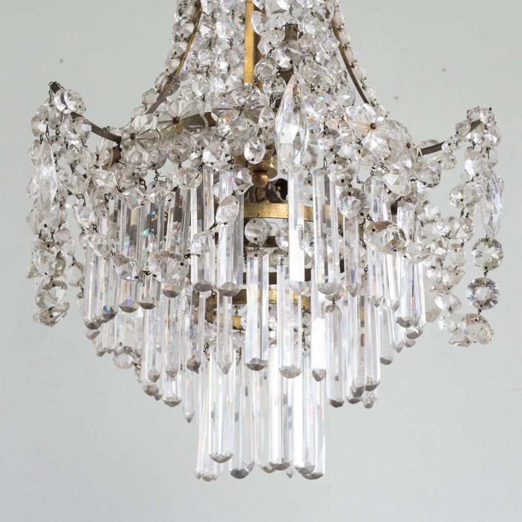 Pair of Regency style glass waterfall chandeliers,-140432