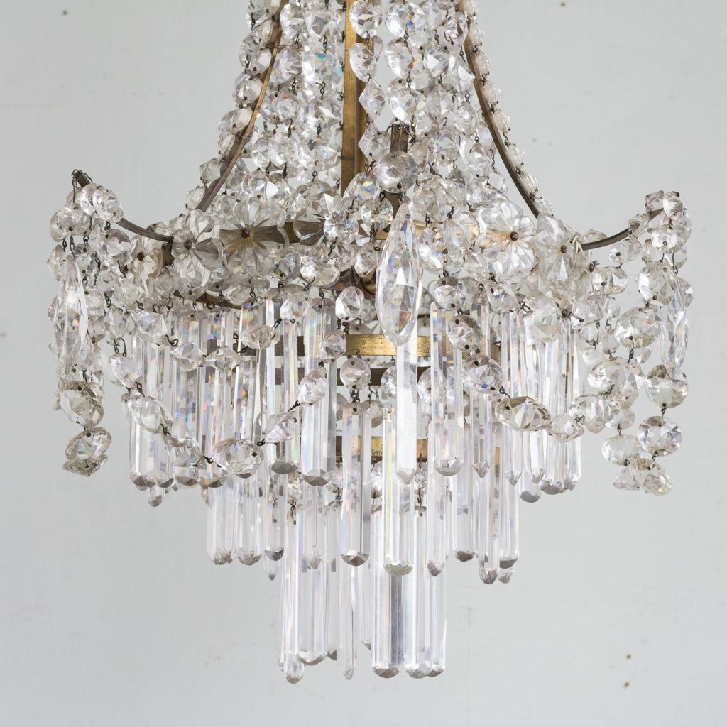 Pair of Regency style glass waterfall chandeliers,-140433