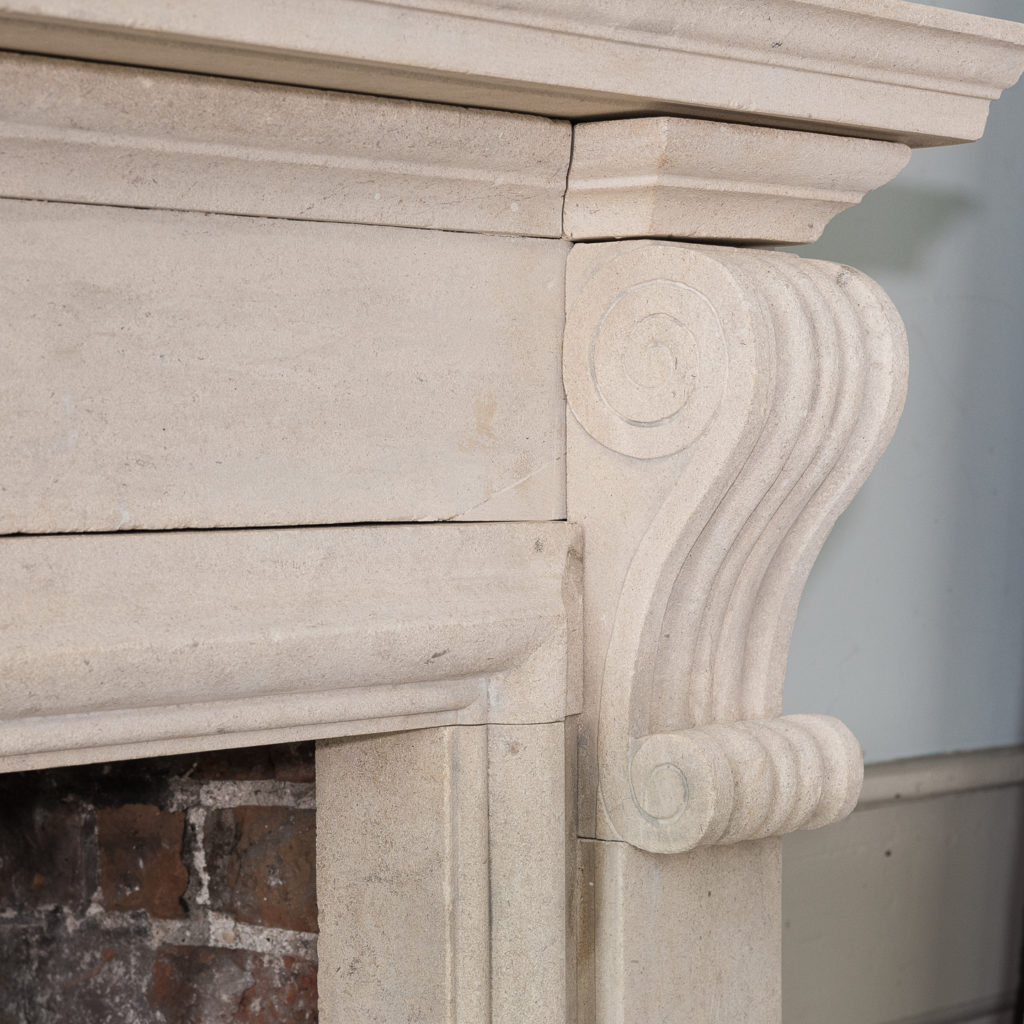 George II style Bathstone fireplace, -140036