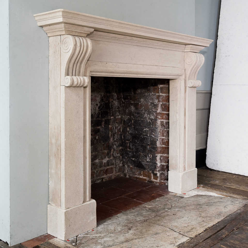 George II style Bathstone fireplace, -140040