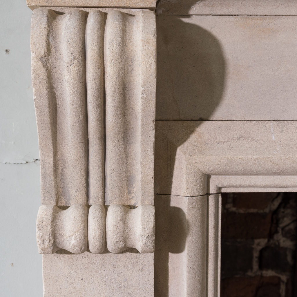 George II style Bathstone fireplace, -140042