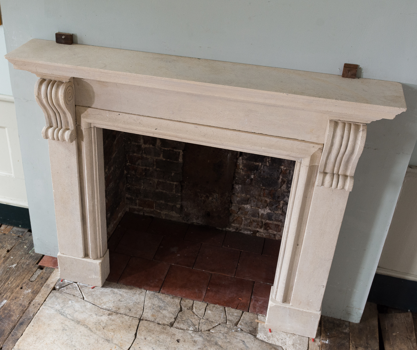 George II style Bathstone fireplace, -140044