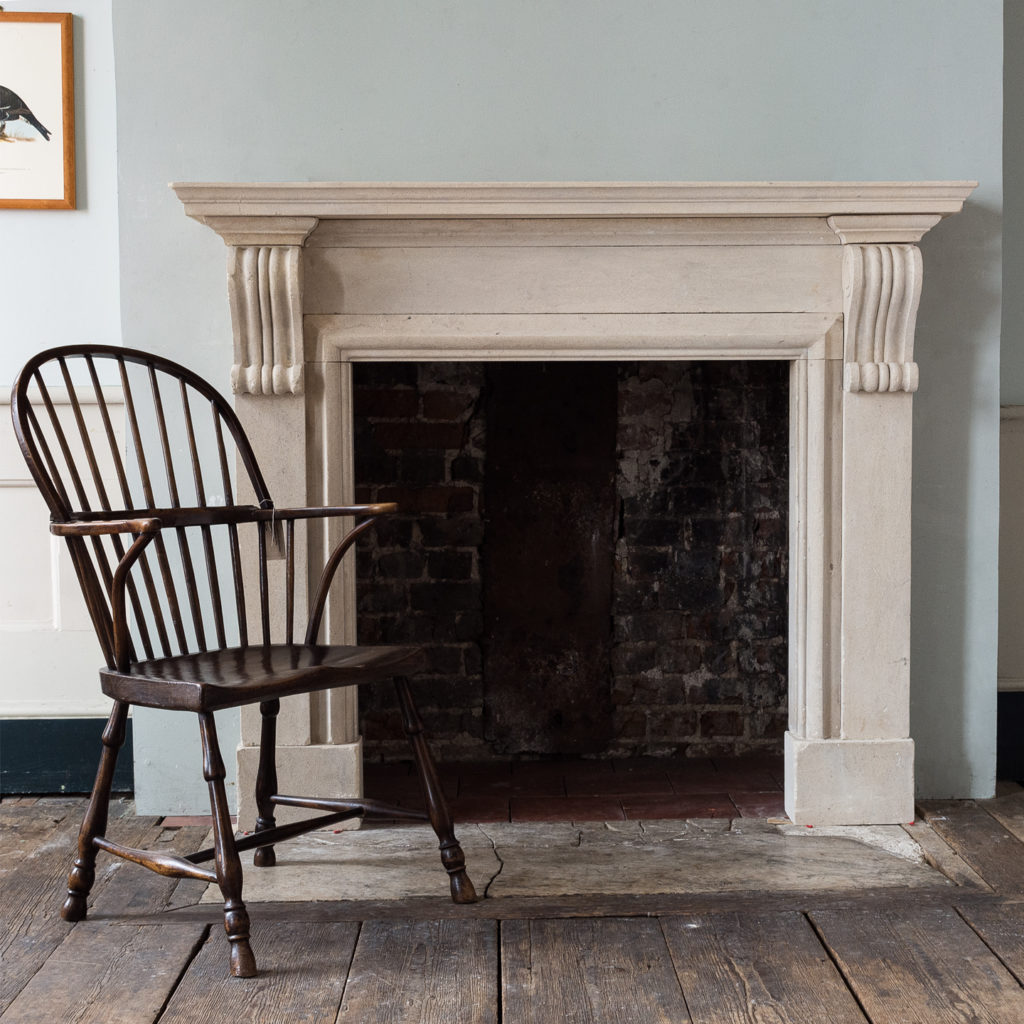 George II style Bathstone fireplace, -140047