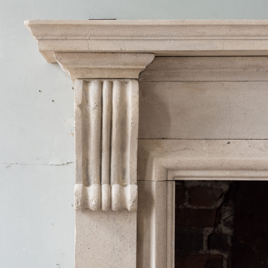 George II style Bathstone fireplace, -140033