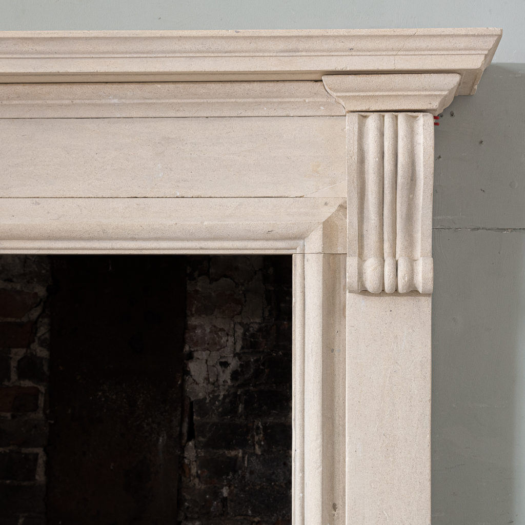 George II style Bathstone fireplace, -140032