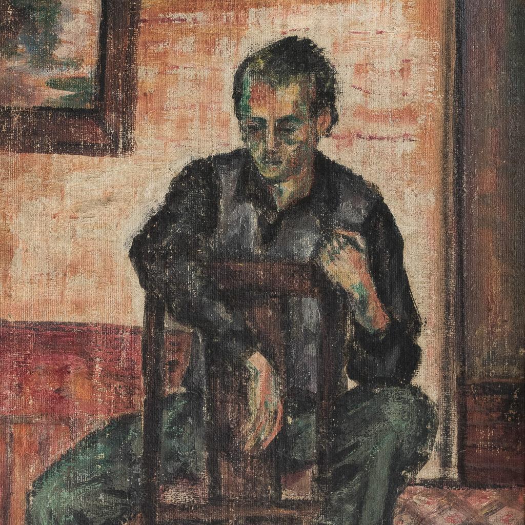 Oil-on-panel of actor Harry H. Corbett