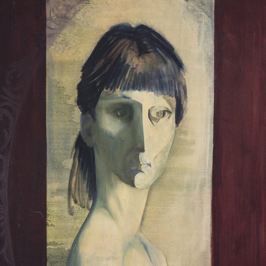 Self portrait, by Sheila Steafel