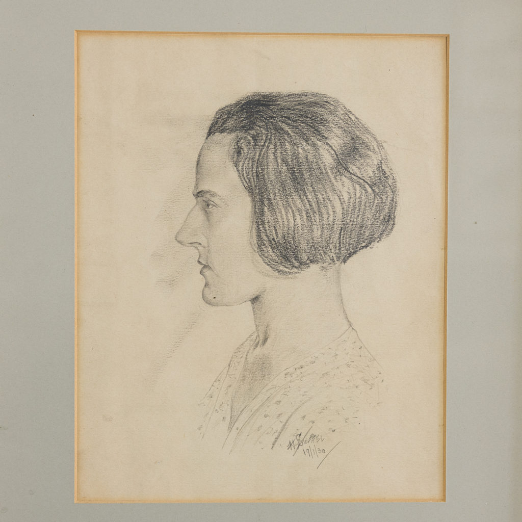 Profile study of a woman by Harold Steafel
