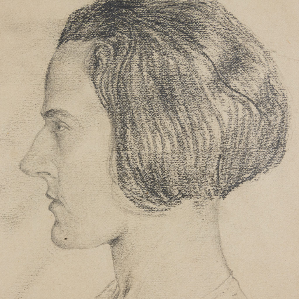 Profile study of a woman by Harold Steafel-140328