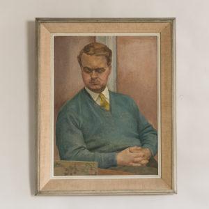 Seated gentleman by Sheila Steafel
