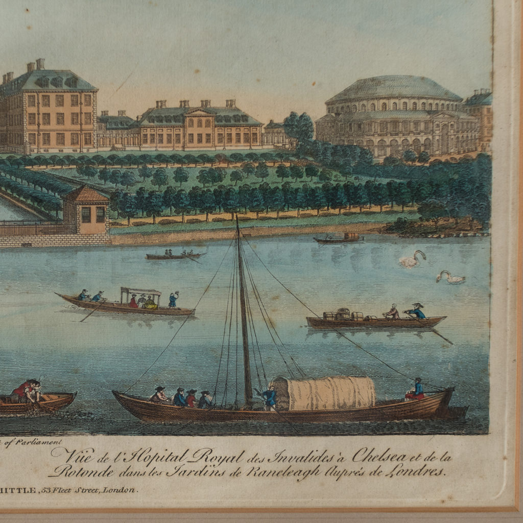 A View of the Royal Hospital in Chelsea & the Rotunda in Ranelaigh Gardens-140250
