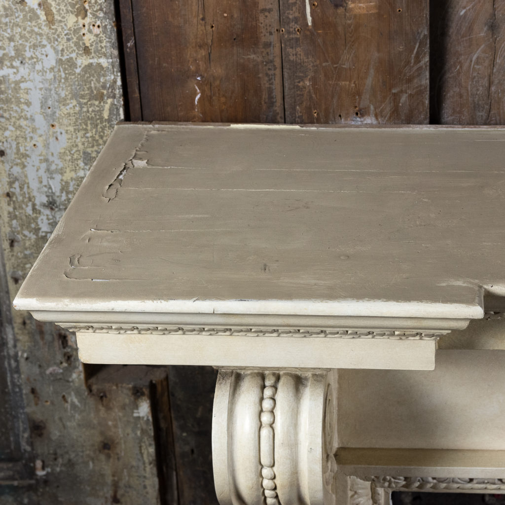 Large mid-Georgian style painted timber fireplace,-140557