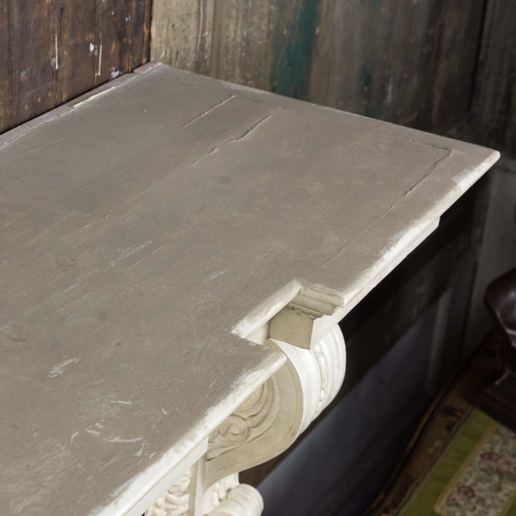 Large mid-Georgian style painted timber fireplace,-140560