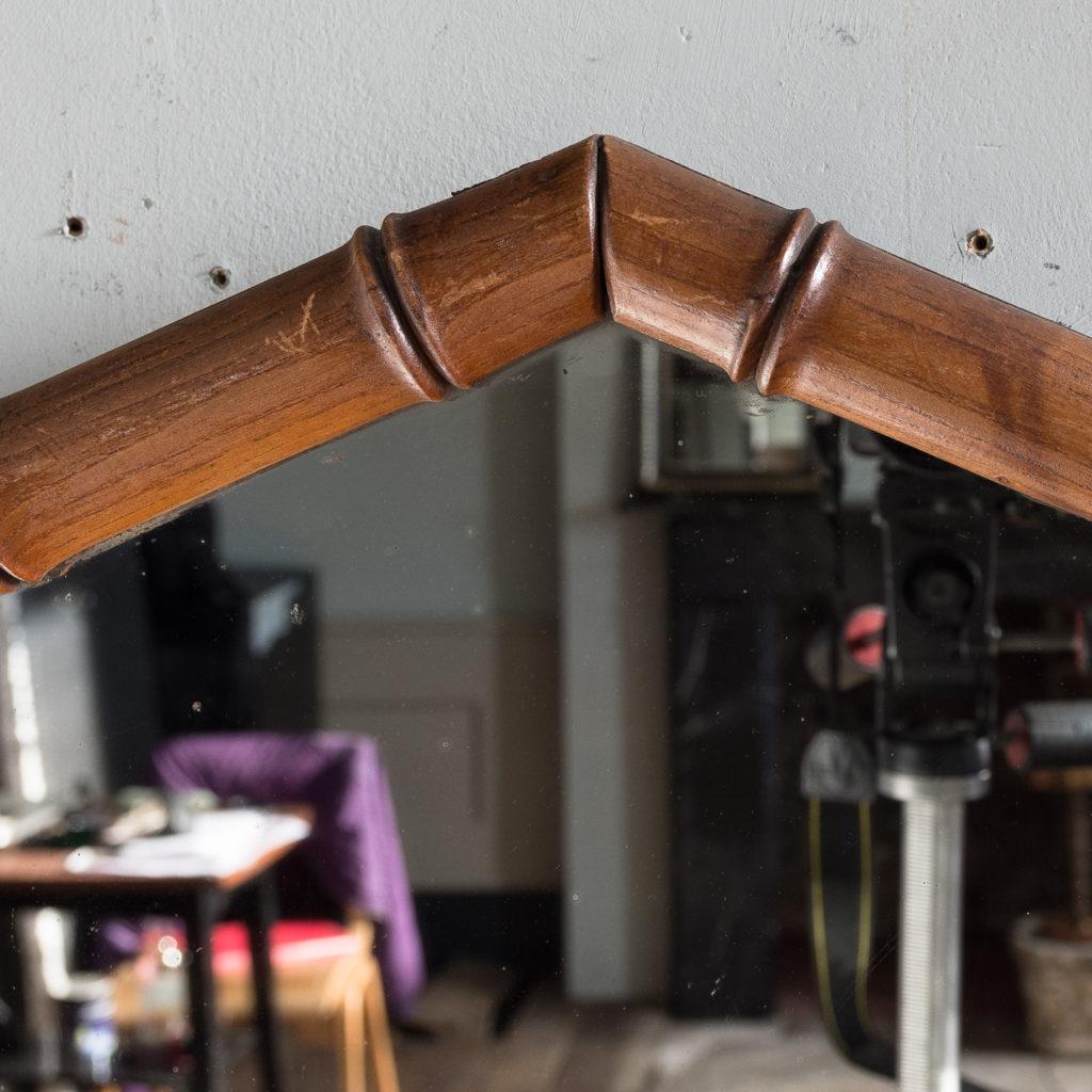 Ash framed bamboo wall mirror,-140519