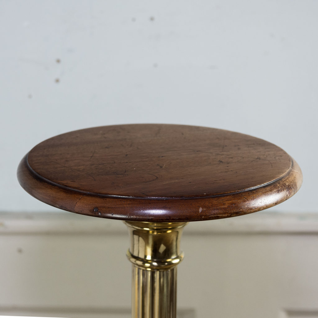 Victorian brass and mahogany jardiniere stand,-140540