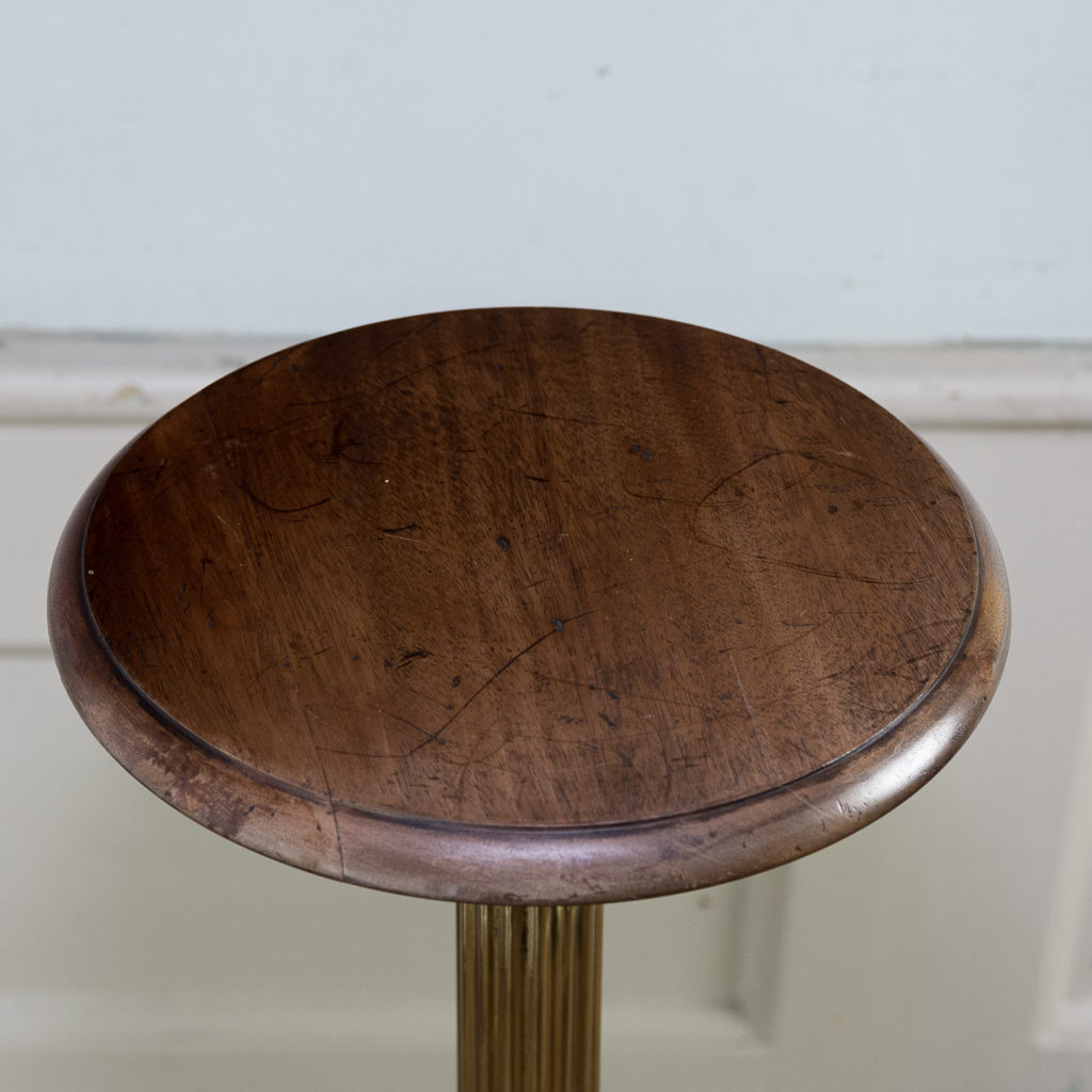 Victorian brass and mahogany jardiniere stand,-140541
