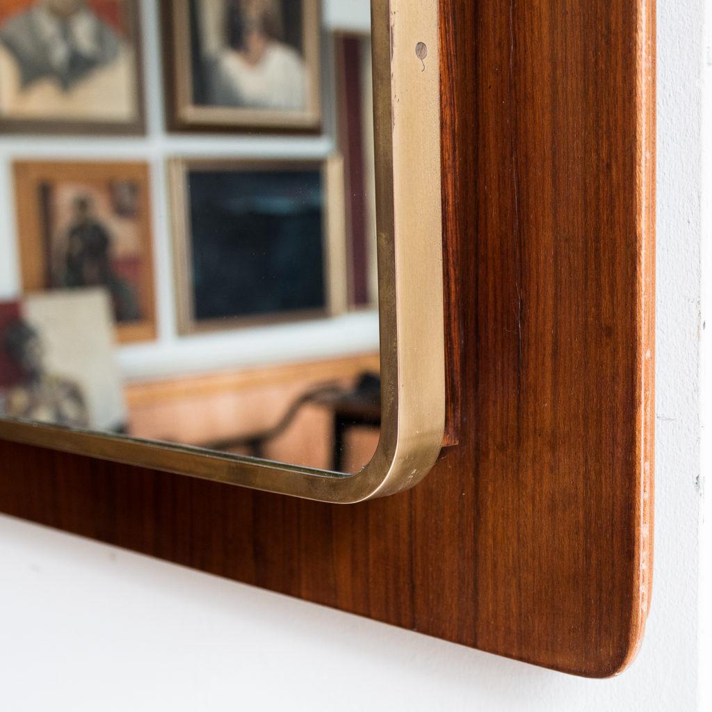 brass bound mirror