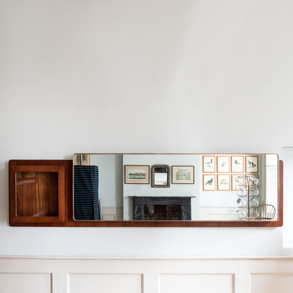 Large Italian 1950s hall mirror,