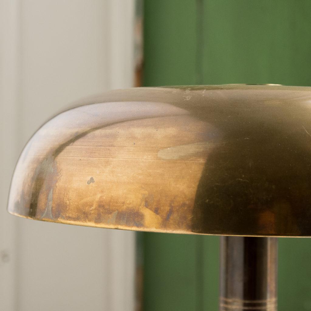 Mid-century brass 'mushroom' lamp,-140642
