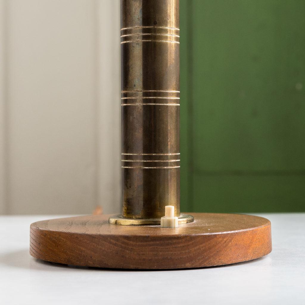 Mid-century brass 'mushroom' lamp,-140645