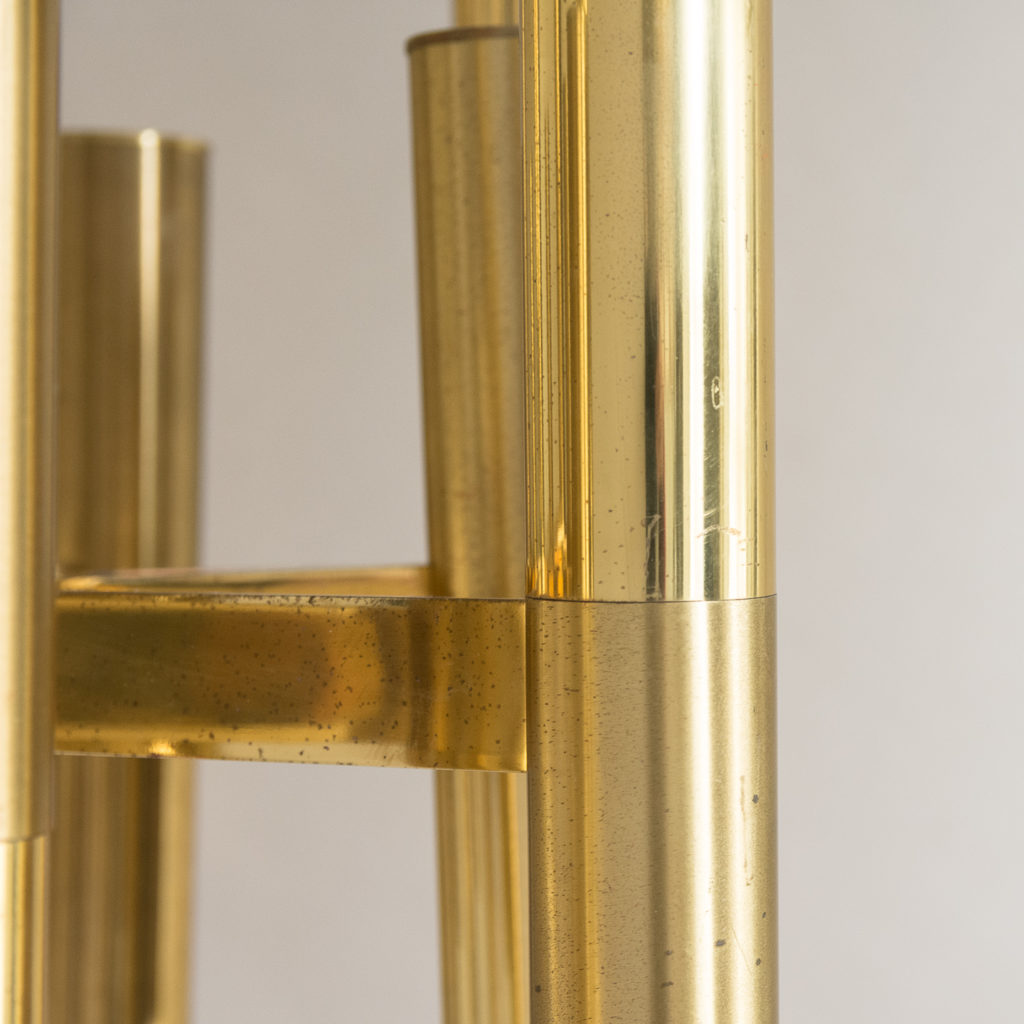 1960s Italian tubular brass chandelier,-140632