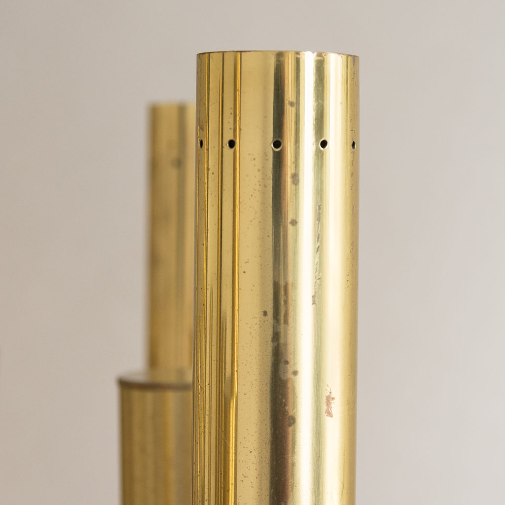 1960s Italian tubular brass chandelier,-140634