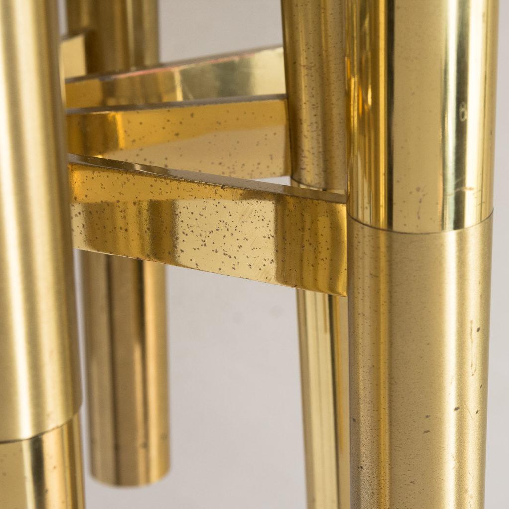 1960s Italian tubular brass chandelier,-140636
