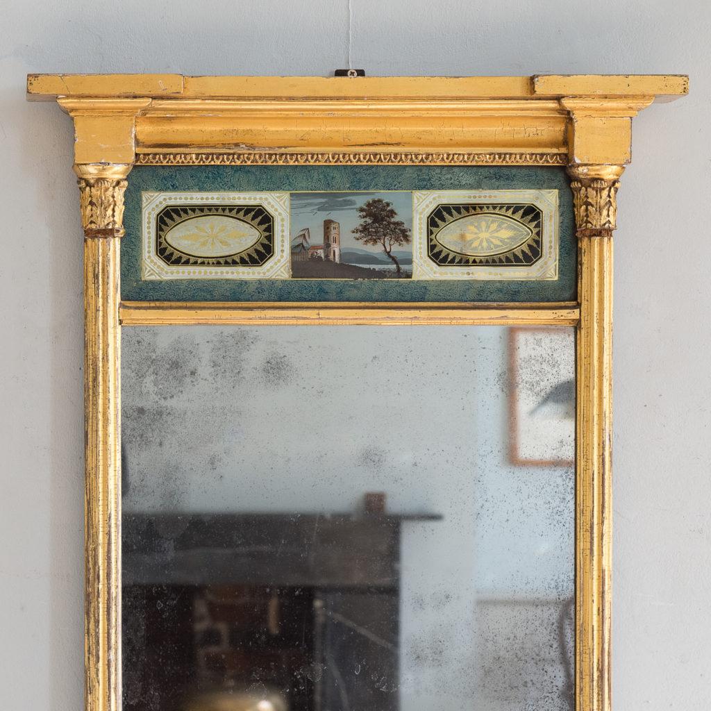 Georgian giltwood pier glass,