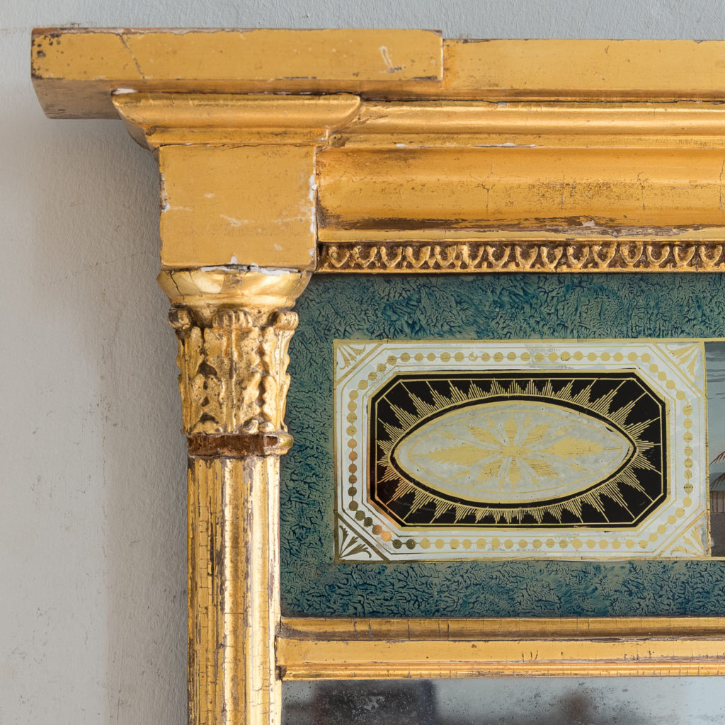 Georgian giltwood pier glass, -140608