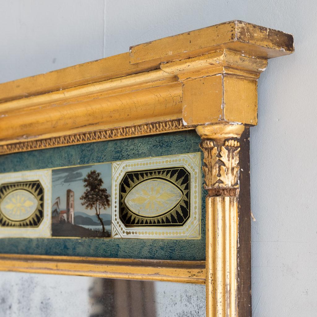 Georgian giltwood pier glass, -140615