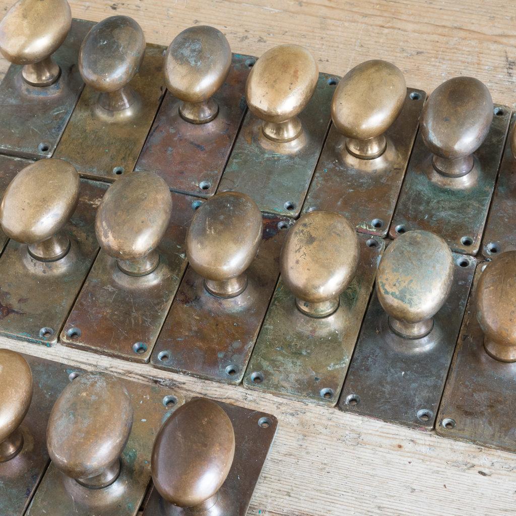 Reclaimed brass door knobs