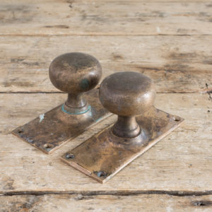 Early twentieth century brass door knobs