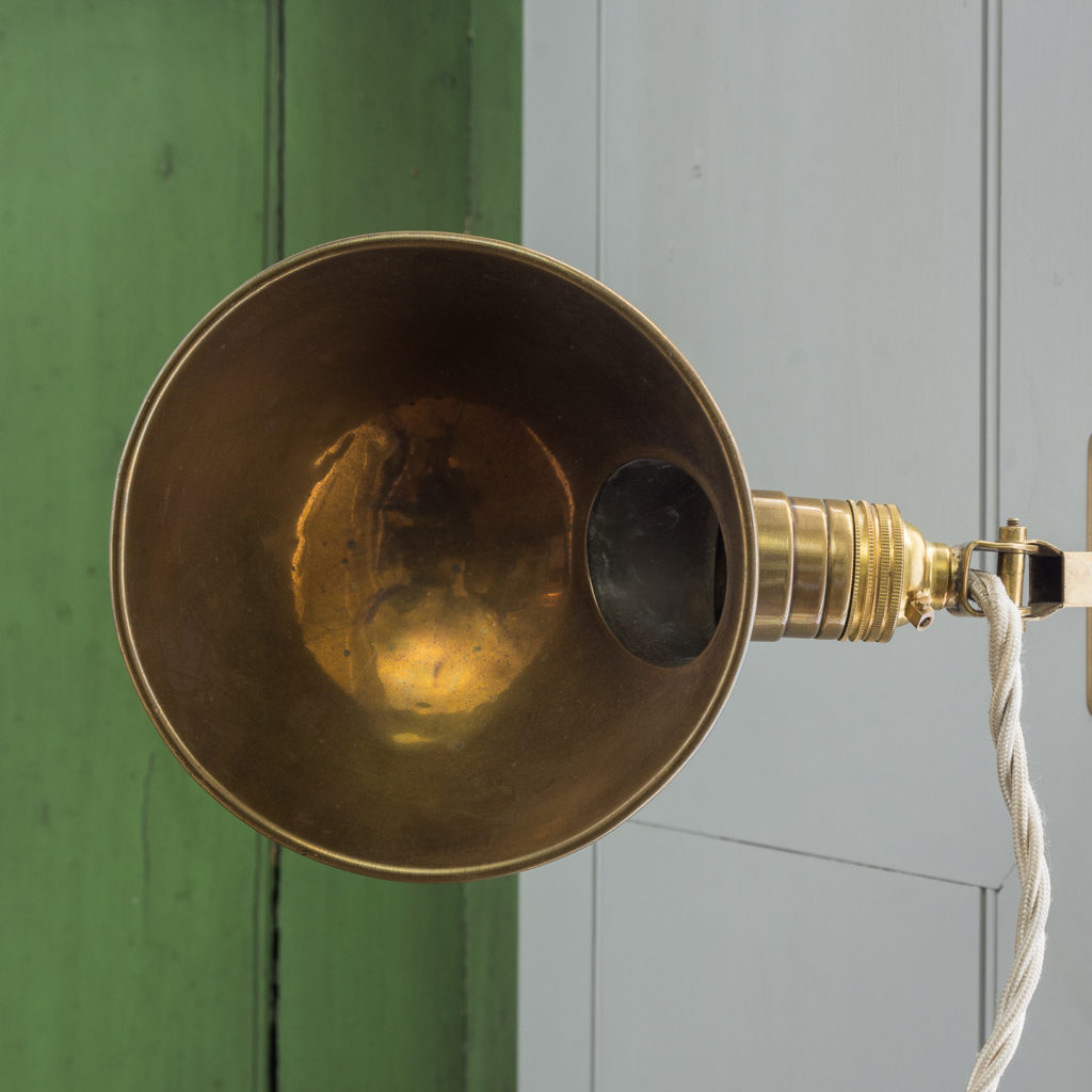 Early twentieth century American brass 'Adjusto-Lite'