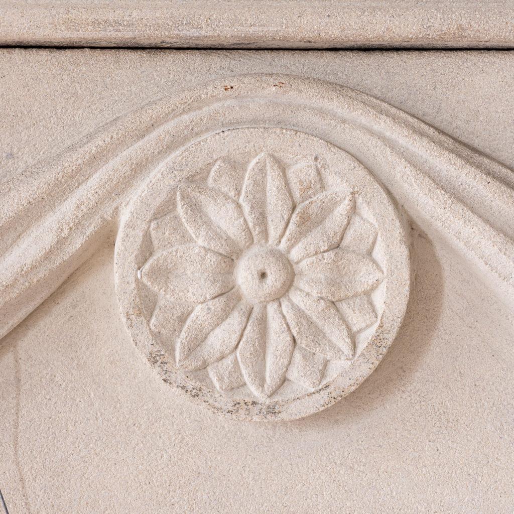 George II style limestone fireplace