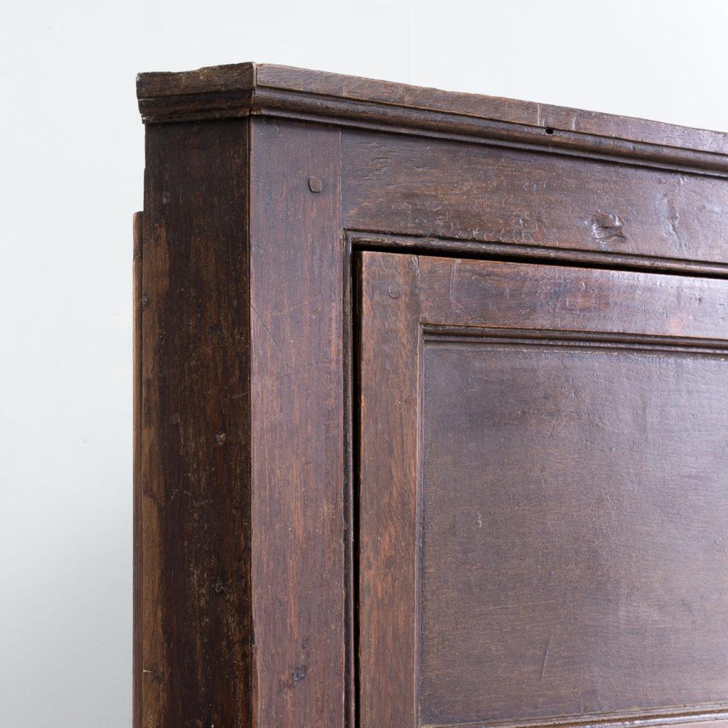 George III oak corner cupboard
