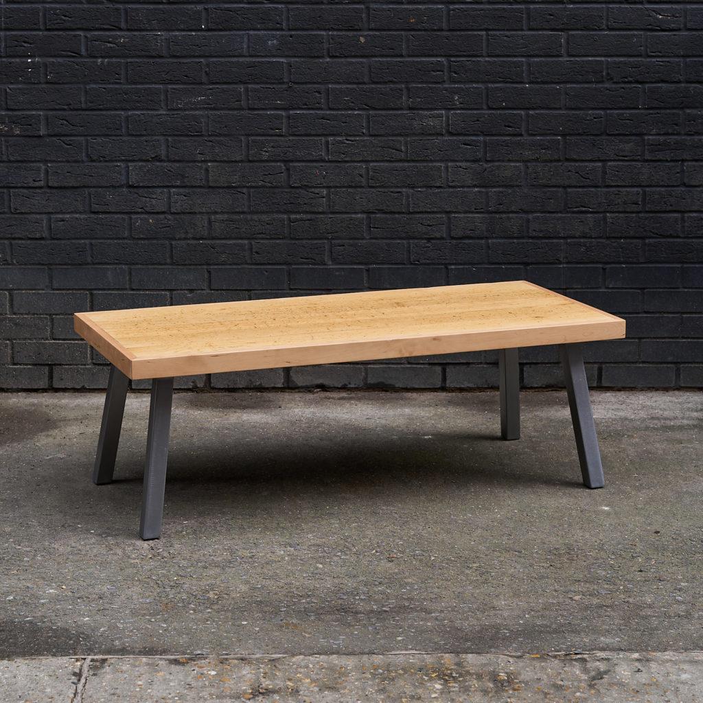Oak strip table ex Charterhouse EC1 coffee table