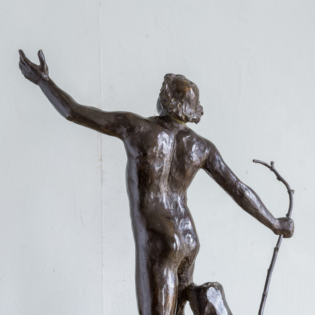 Late nineteenth century bronze figure of a male nude