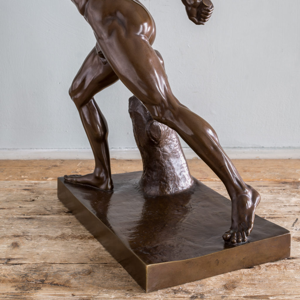 French bronze figure of the Borghese Gladiator,