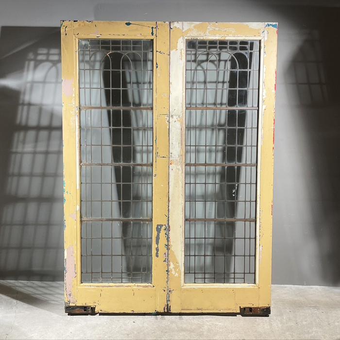 Art Deco copperlight doors