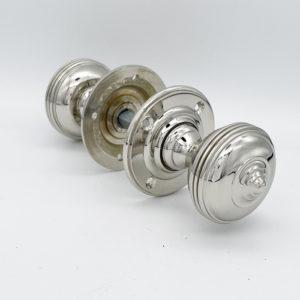 Nickel plated door knobs
