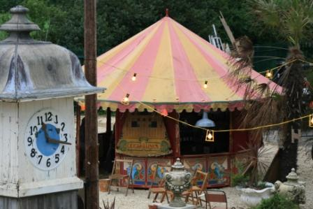Fairground Tent at Launch