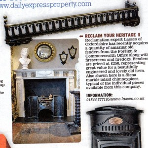 Fireplaces in Daily Express