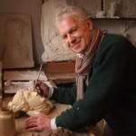 Master Plaster Caster, Peter Hone, in The Hone Exchange at Three Pigeons.