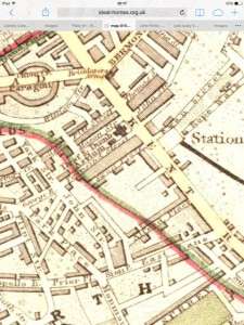 Victorian Map showing the Asylum on Kent Road